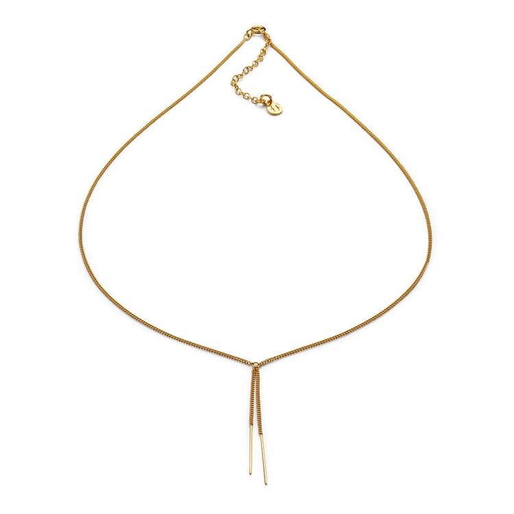 Halskette Y-Form, Gold