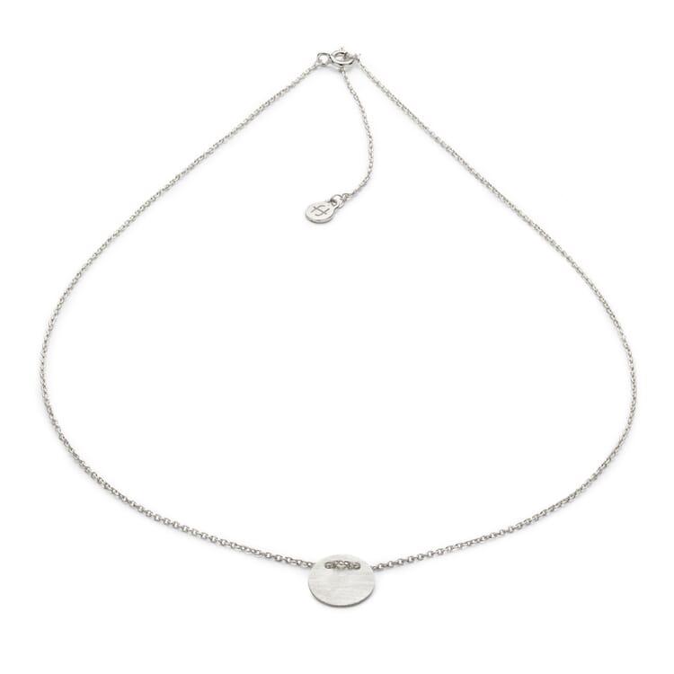 Halskette Satin-Disc, Silber