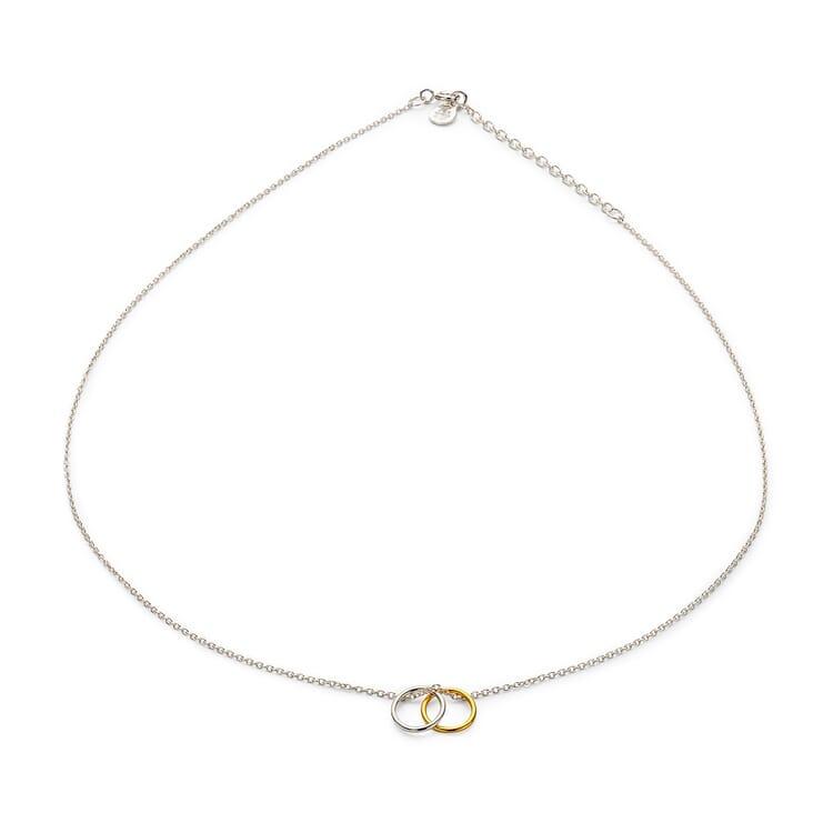 Halskette Bicolor-Circle, Silber-Gold