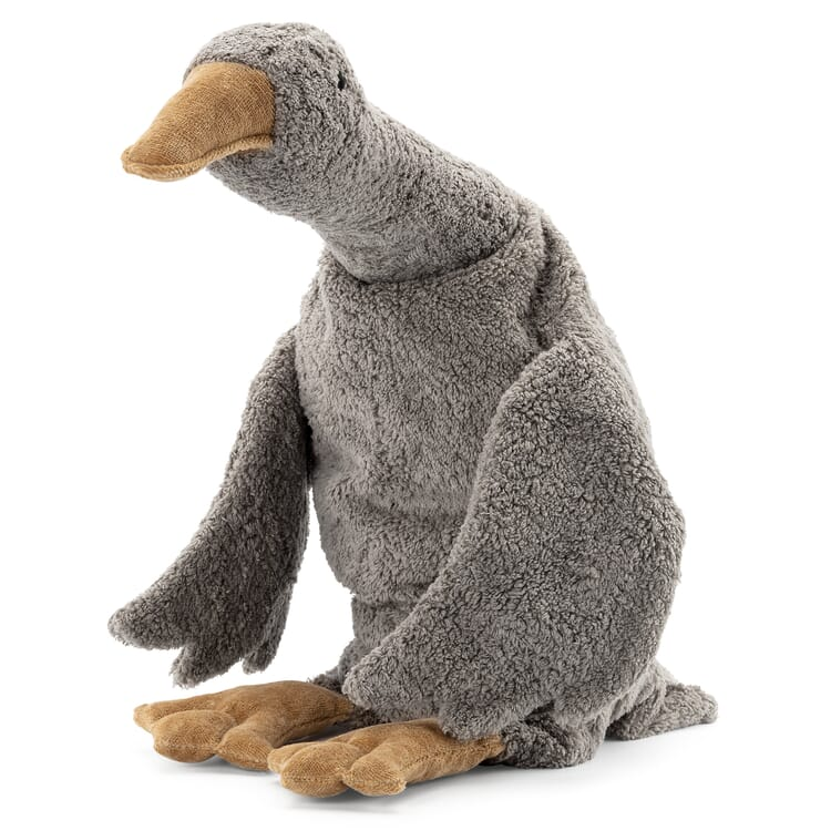 Grey Soft-Toy Goose with Heat Cushion by Senger, Large