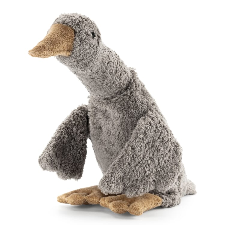 Grey Soft-Toy Goose with Heat Cushion by Senger, Small