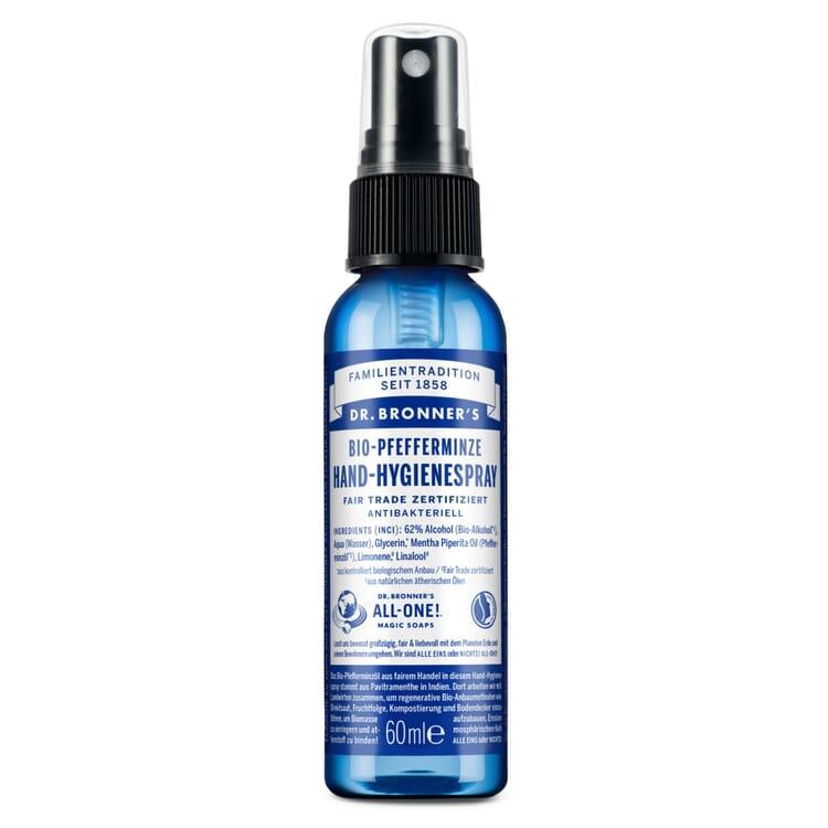 Dr. Bronner's Hand-Hygienespray, Pfefferminze