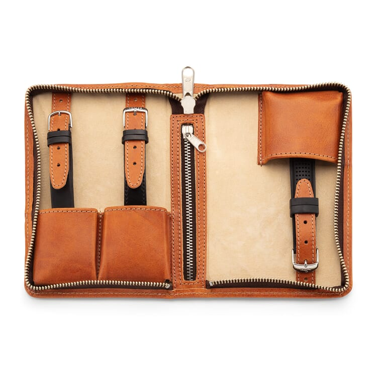 Watch Travel Case Made of Bull Leather by Hammann