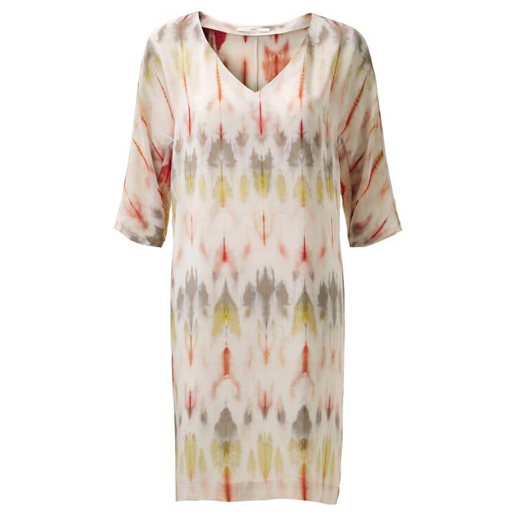 Damen-Seidenkleid Print, Multicolor