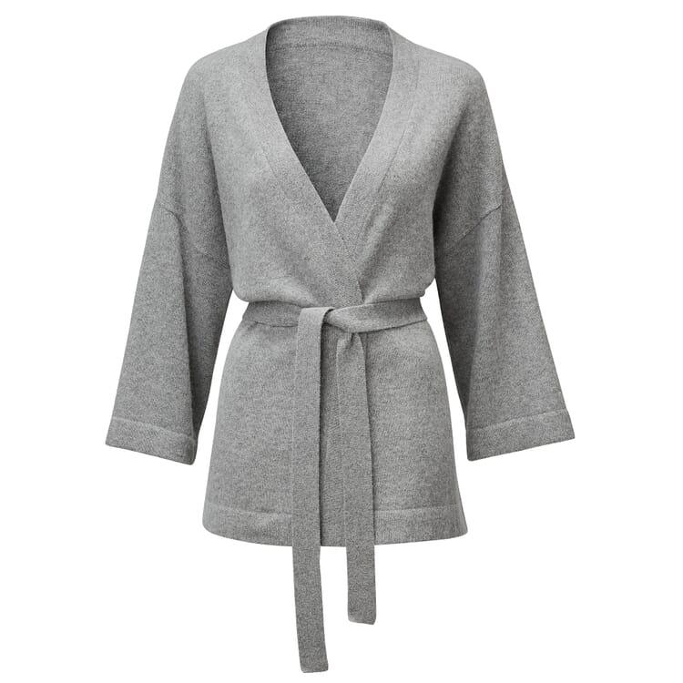 Women's Cardigan with Tie Belt Made of Alpaca