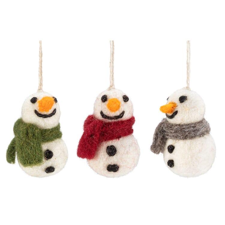 Snowmen Made of Felt