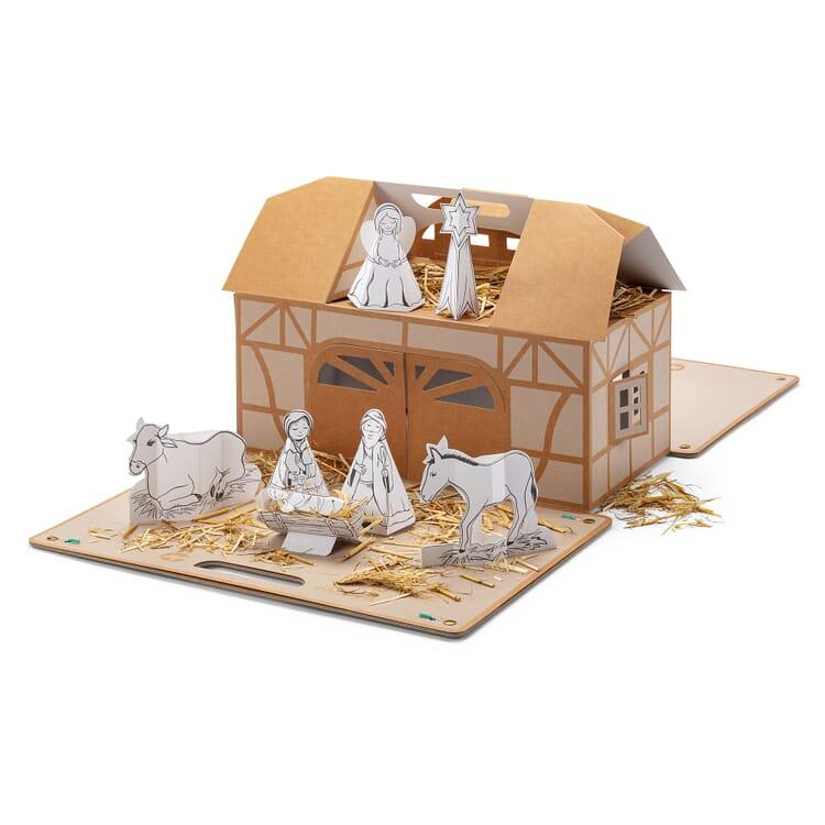 DIY Pop-Up Paper Nativity Scene