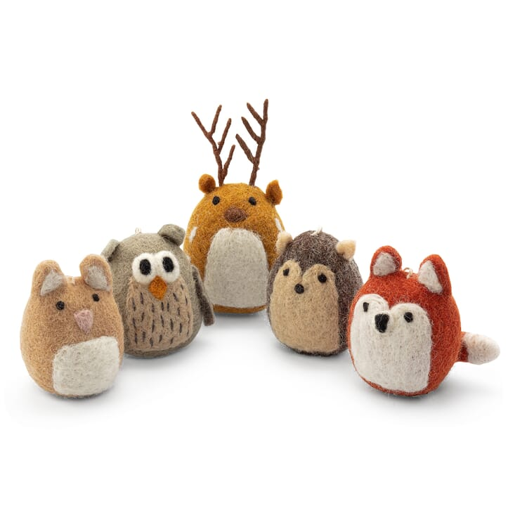 Soft Toys Forest Animals Made of Felt