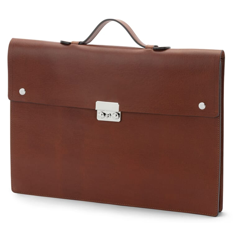 Collapsible Briefcase by Manufactum, Brown