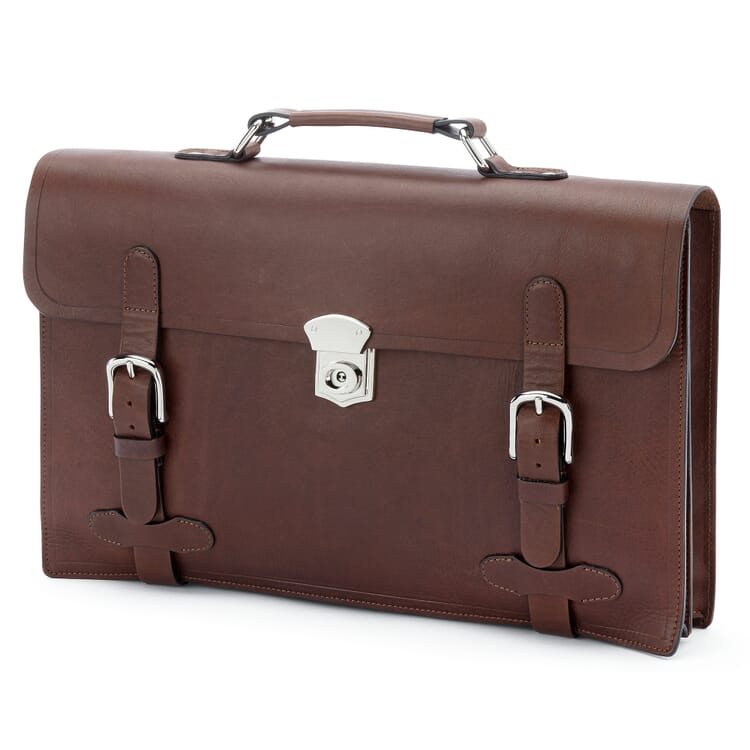 Leather Briefcase by Manufactum, Brown