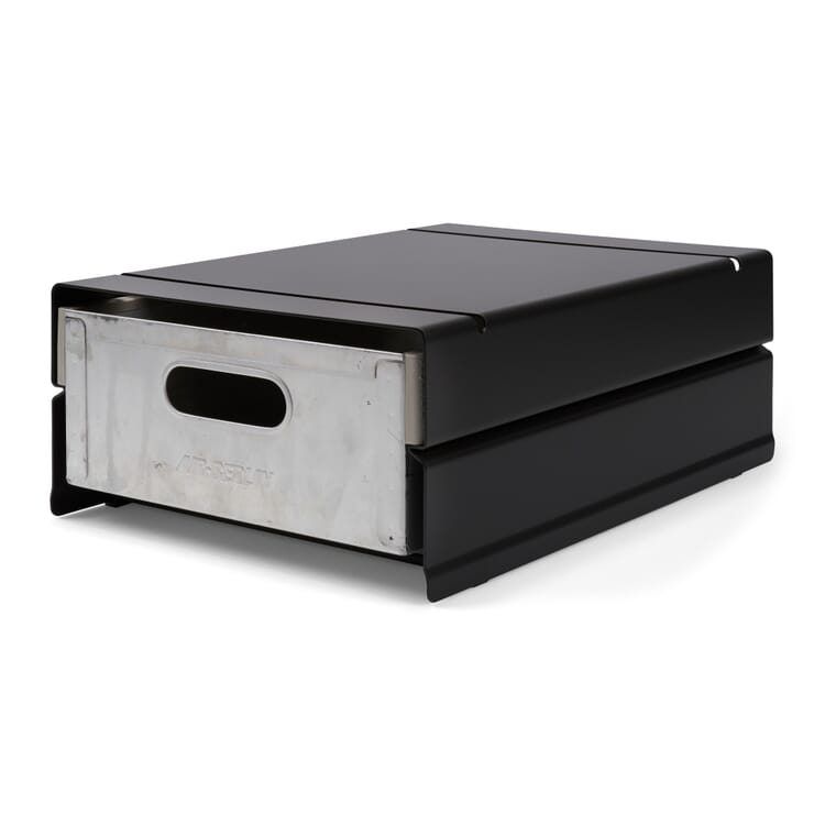 Container ATLAS for 1 Drawer, Black Grey RAL 7021