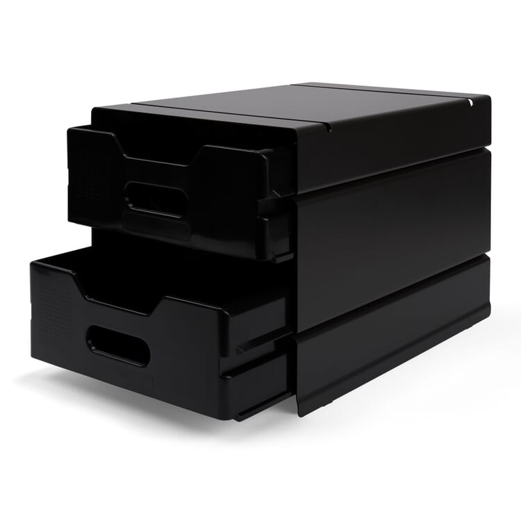 Container ATLAS for 2 Drawers, Black Grey RAL 7021