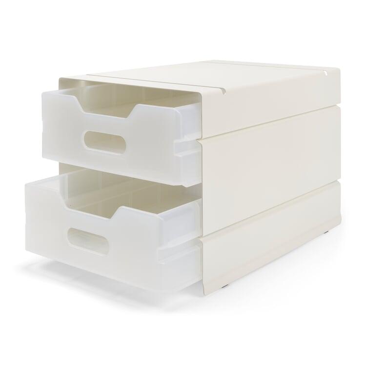 Container Atlas, 2-fach Reinweiß RAL 9010