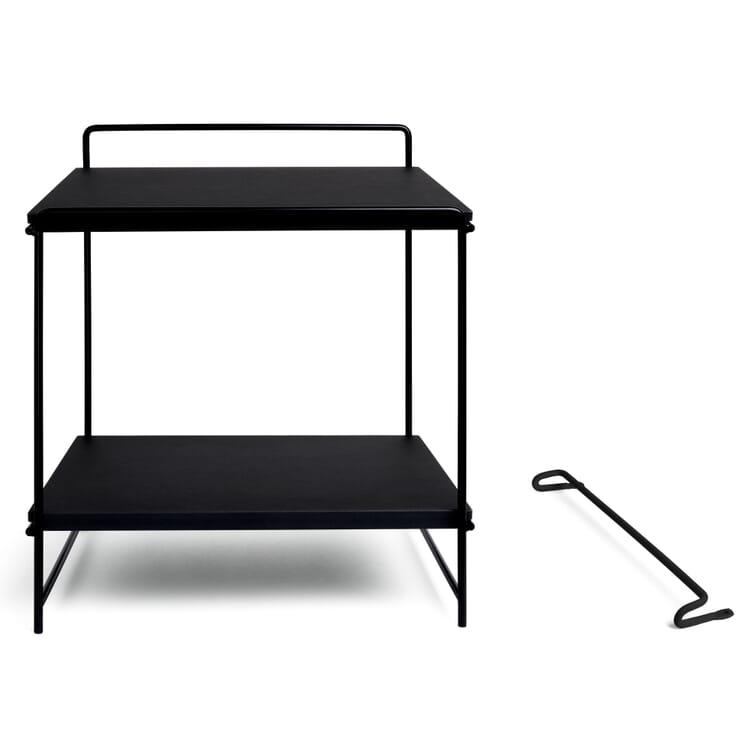 Table and Wall Desk HEGEL, Jet Black RAL 9005 / Black