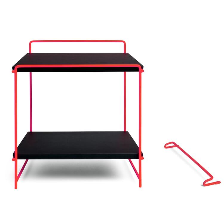 Table and Wall Desk HEGEL, Luminous Orange RAL / Black