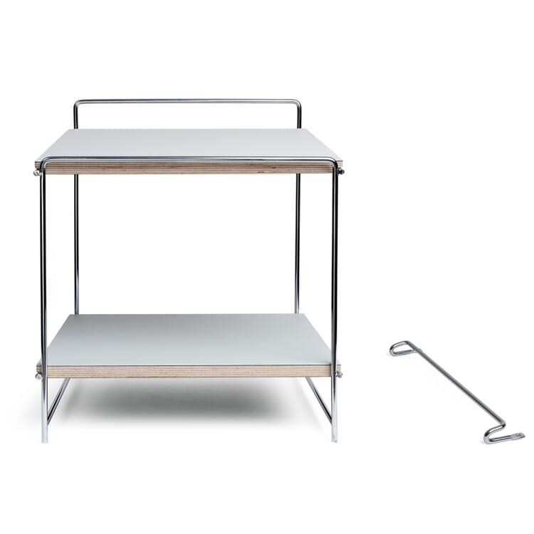 Table and Wall Desk HEGEL, Chromed / Light Grey