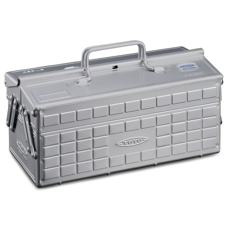 "Folding Toolbox ""Toyo"", Silver-Coloured"