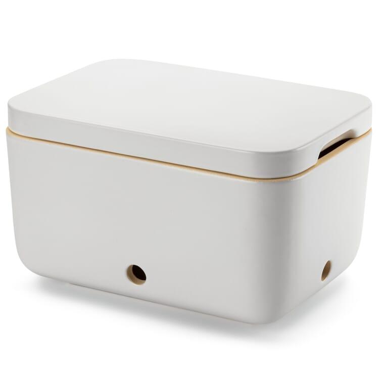 Potato Storage Container by Rehau, Glazed in Matt White
