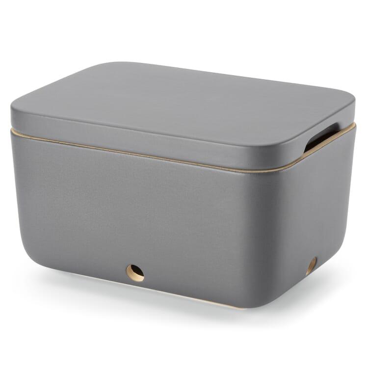 Potato Storage Container by Rehau, Glazed in Matt Grey