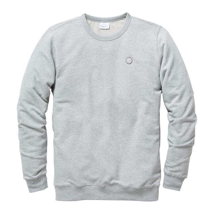 Herren-Sweatshirt, Grau-Melange
