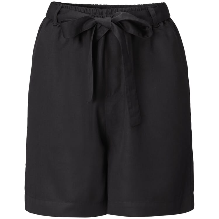 Damen-Shorts Tencel™, Schwarz