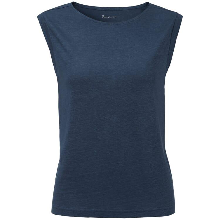 Damen-Leinenshirt ärmellos