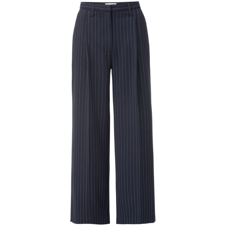 Women's Pinstripe Trousers, Blue