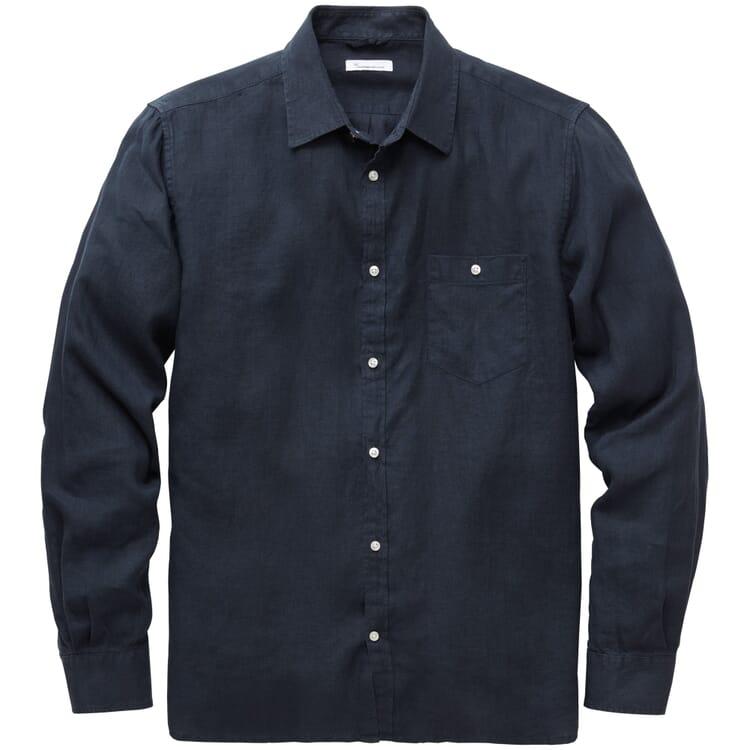 Herren-Leinenhemd, Blau