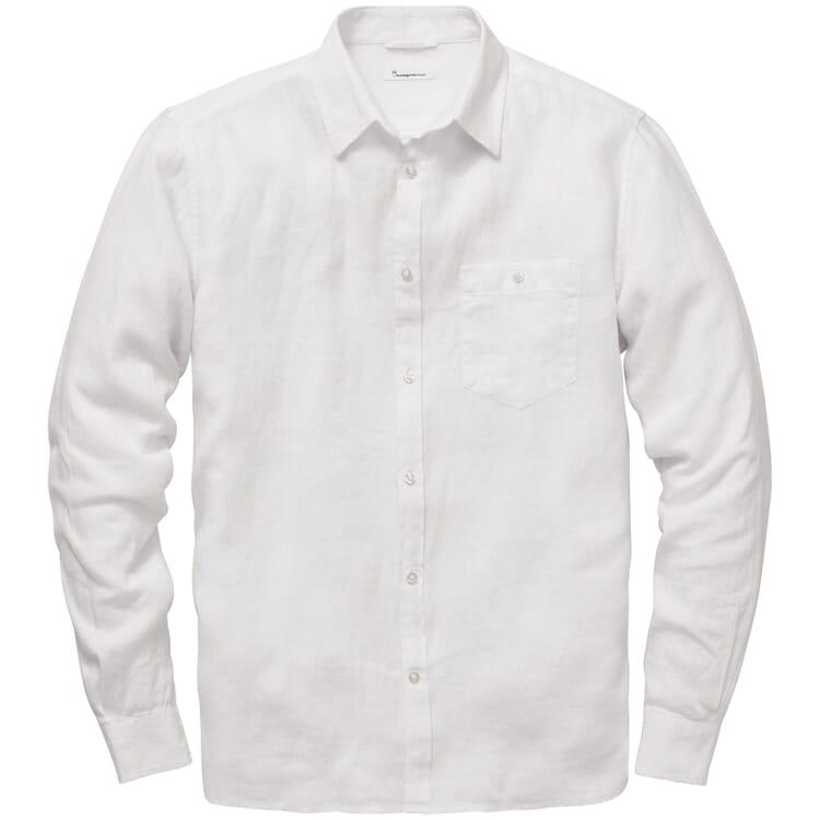 Herren-Leinenhemd, Weiß