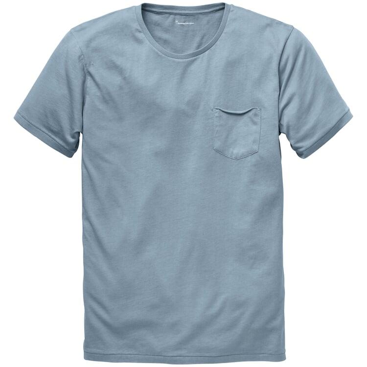 Baumwoll-Shirt Mittelblau