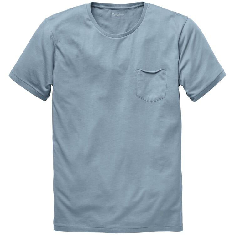 Baumwoll-Shirt, Mittelblau