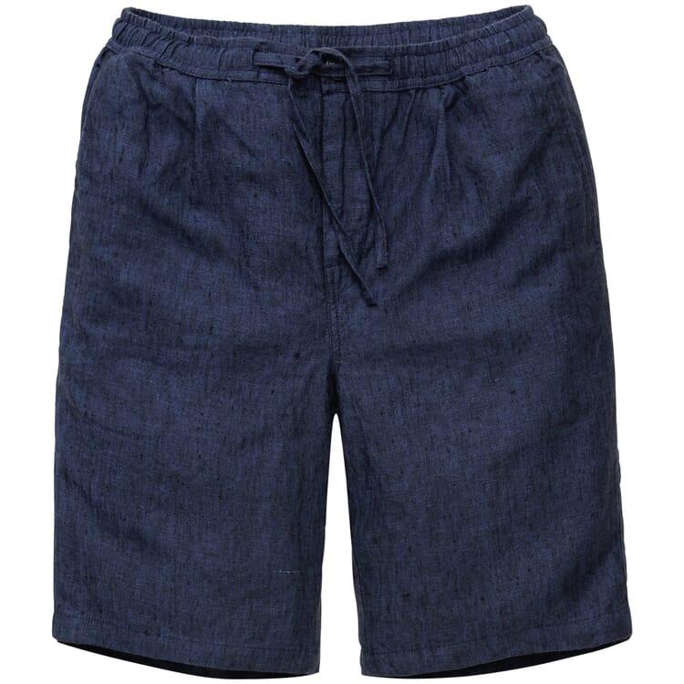 Men's Shorts Made of Linen, Blue