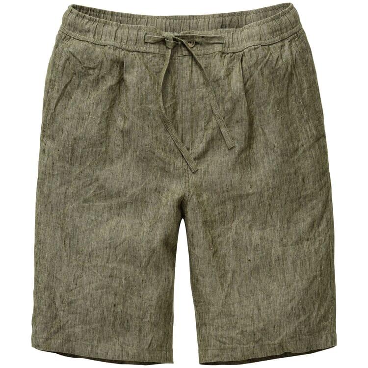Men's Shorts Made of Linen, Green