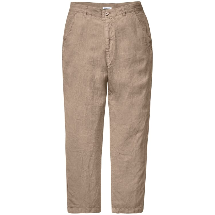Men's Trousers Made of Linen, Camel