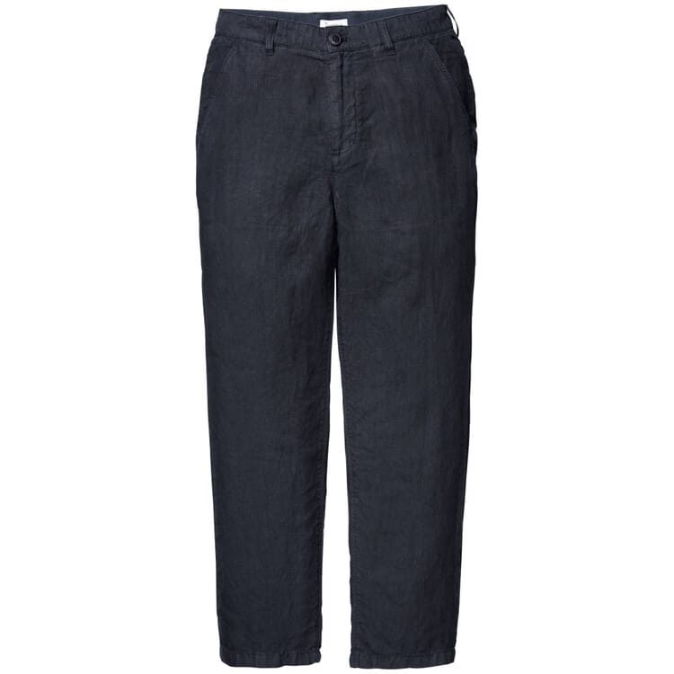Men's Trousers Made of Linen, Blue