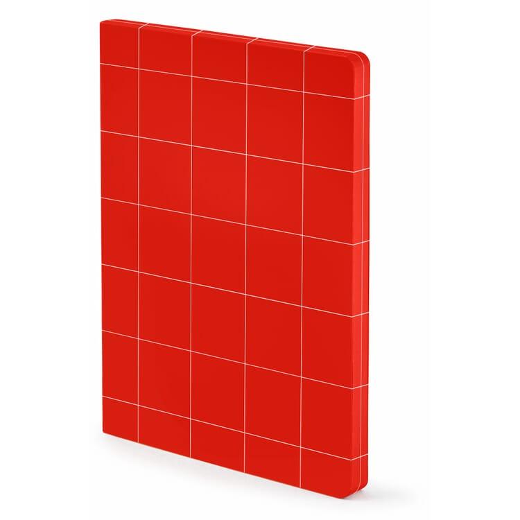"Notebook ""Break The Grid"", L – Red"