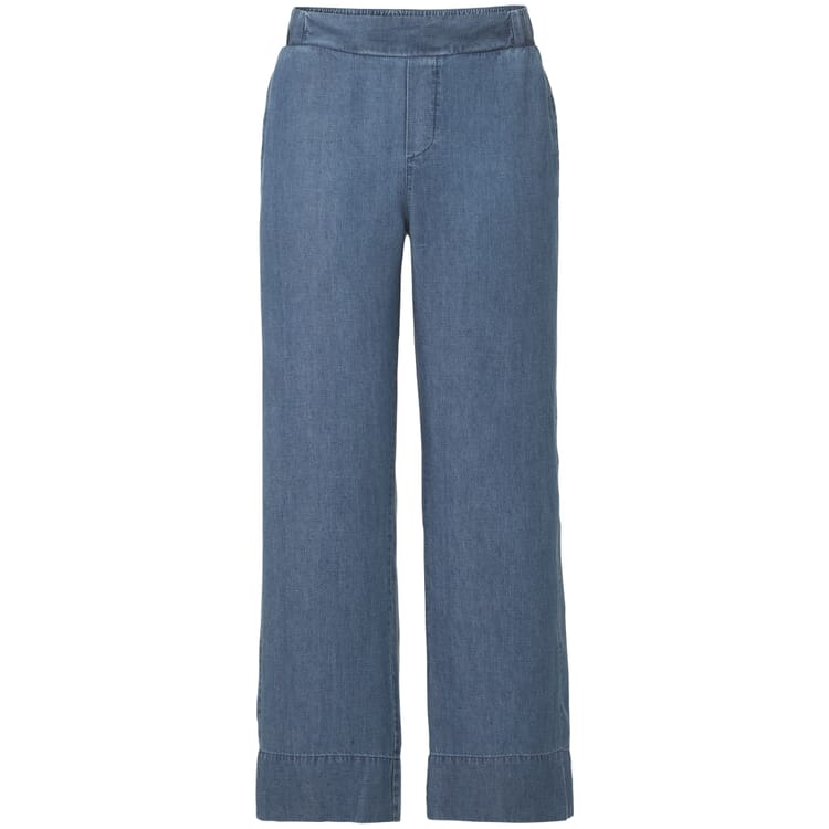 Damenhose Tencel™ und Leinen 7/8, Denim