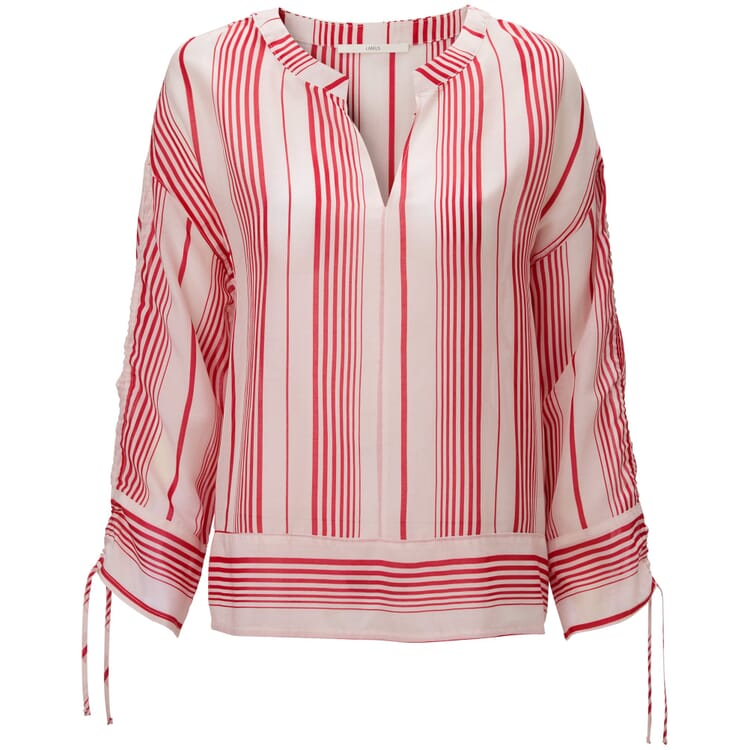 Women's Blouse Made of a Striped Cotton and Silk Fabric