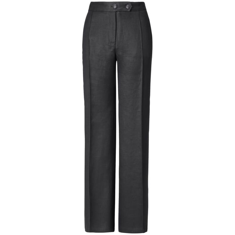 Women's Trousers Made of Linen, Black