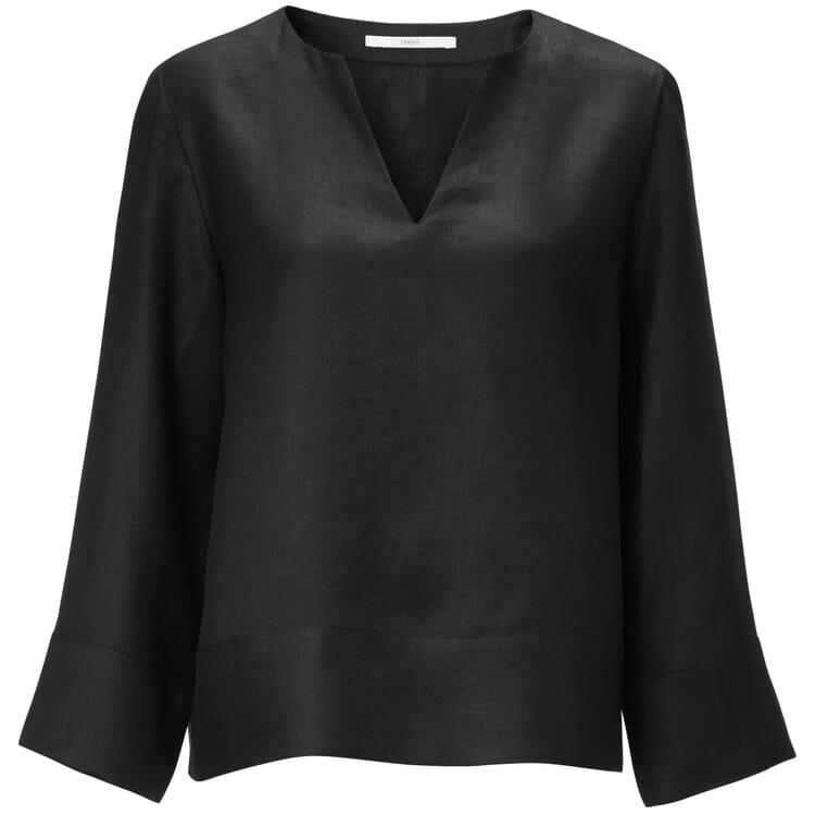 Women's Blouse Made of Linen, Black