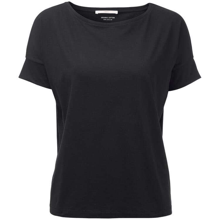 Damenshirt mit Ärmelblende, Schwarz