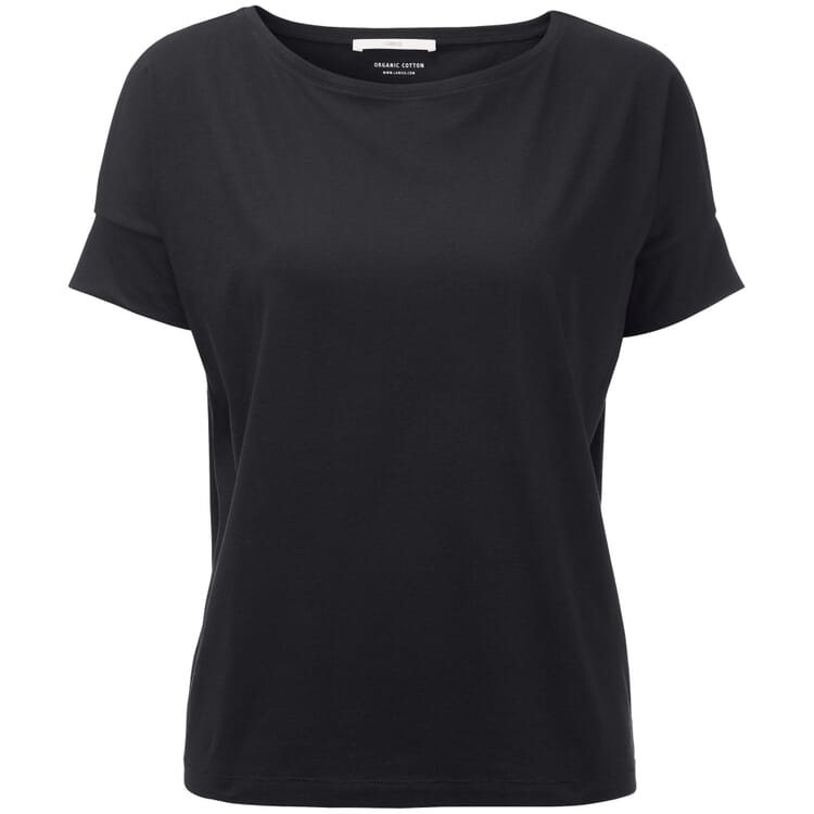 Women's T-Shirt with Roll-Up Sleeve, Black