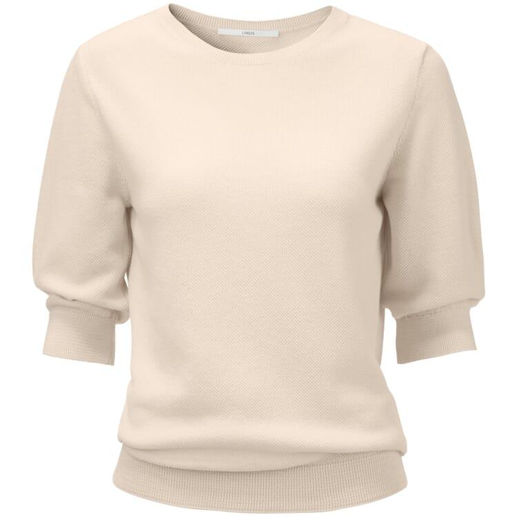Women's Short-Sleeved Sweater, Ecru