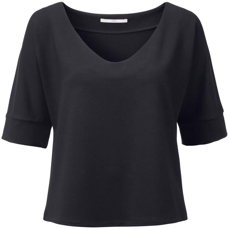 Damenshirt V-Ausschnit, Schwarzblau