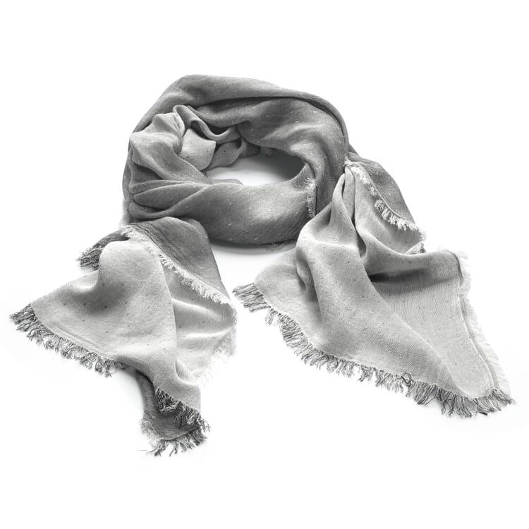 Fringed Scarf, Grey-White