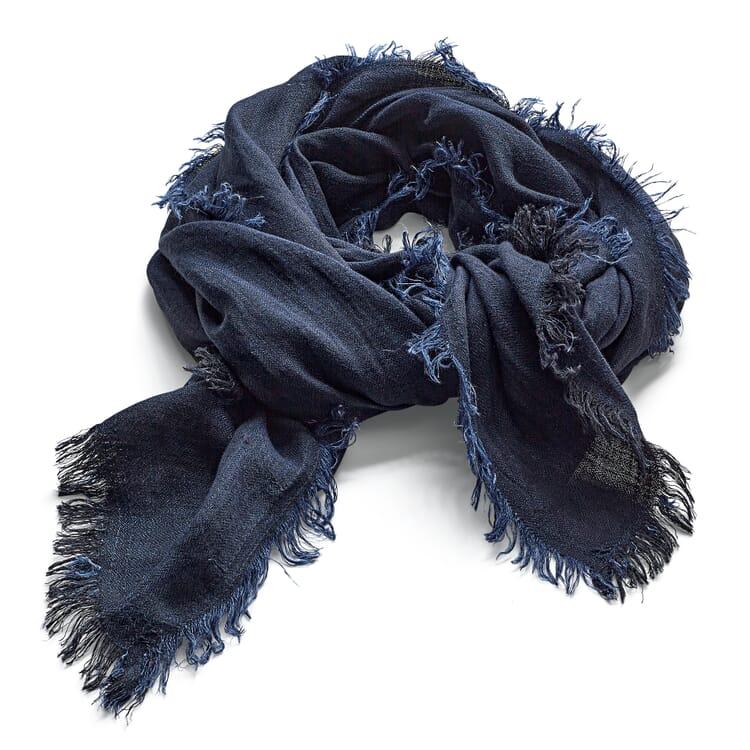 Schal Leinen, Schwarzblau