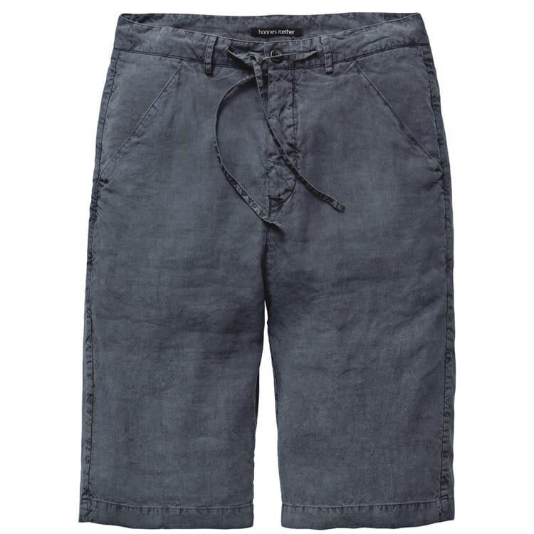 Men's Shorts Linen and Silk, Grey