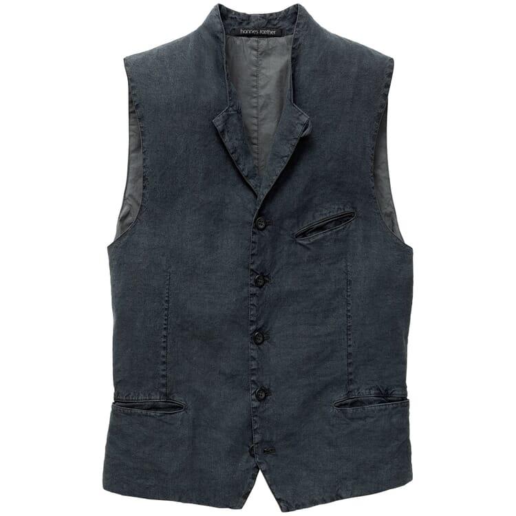 Men's Waistcoat Made of Linen and Silk, Grey