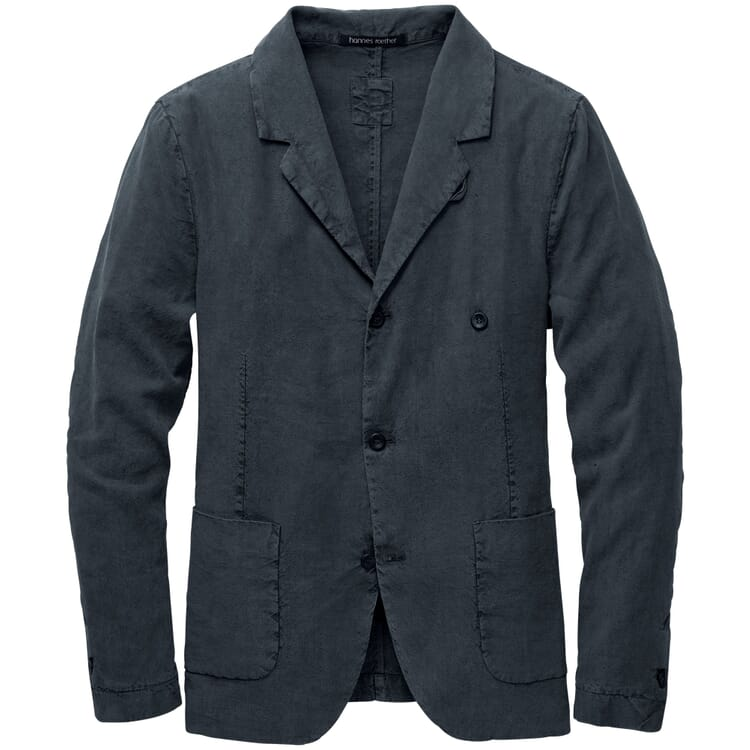 Men's Jacket Made of Linen and Silk, Grey