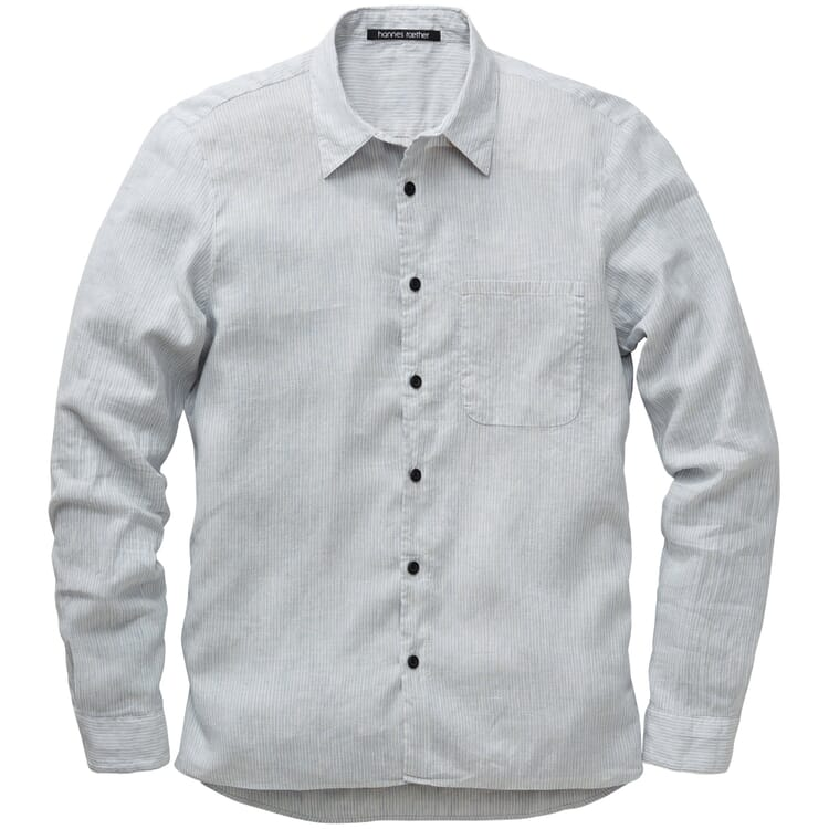 Herrenhemd gestreift, Grau